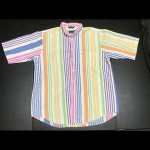 Vintage Nautica striped button down shirt Sz L
